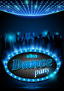 Neon Sign Ultra Dance Party Royalty Free Stock Photo