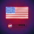 Neon Sign USA Flag