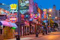 Neon signs on Beale street Royalty Free Stock Photo
