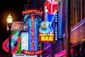 Neon signs on Lower Broadway Nashville
