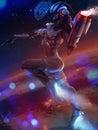 Neon space girl.