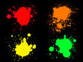 Neon Splats 1 Stock Photography