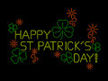 Neon St Patricks Day Sign Stock Images