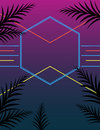 Neon style summer party poster