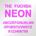 Neon Style vector font alphabet abc Royalty Free Stock Photo