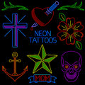 Neon Tattoos Royalty Free Stock Image