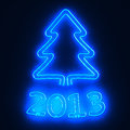 Neon tree 2013 Royalty Free Stock Image