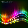 Neon vector equalizer wave rainbow colors abstract Royalty Free Stock Photos
