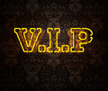 Neon VIP sign II Stock Photos