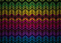 Neon zig zag Royalty Free Stock Photo