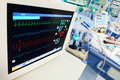 Neonatal ICU with ECG monitor Royalty Free Stock Photo