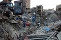NEPAL-EARTHQUAKE-DISASTER Royalty Free Stock Photo