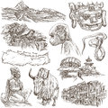 Nepal - Pictures of life. Travel. Full sized hand drawings, orig