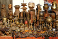 Nepalese Brass and Copper Statues Stock Photos
