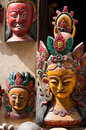 Nepalese masks sell on the streets of kathmandu nepal Stock Image