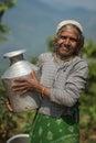 Nepalese peasant woman