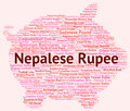 Nepalese rupee represents currency exchange and coinage meaning rate banknotes Royalty Free Stock Images