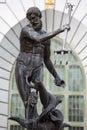 Neptun bronzestatue roman gods des meeres Stockbilder