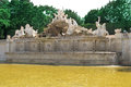 Neptun fountain schonbrunn palace in the gardens of Stock Photo