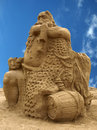 Neptun the made with sand Royalty Free Stock Image