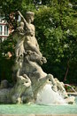 The neptunbrunnen fountain neptun fountain in botanical garden in munich germany bavaria Stock Photo
