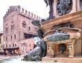 Neptune Fountain Bologna Royalty Free Stock Photo