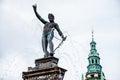 Neptune Fountain at Frederiksborg Castle Royalty Free Stock Photo