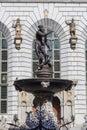Neptune fountain in Gdansk Royalty Free Stock Photo