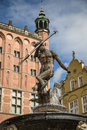 Neptune fountain in Gdansk, Danzig, Poland. Royalty Free Stock Photo
