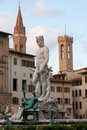 Neptune fountain on Piazza della Signoria Royalty Free Stock Photo
