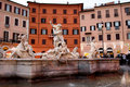 Neptune Fountain in Piazza Navona Royalty Free Stock Image