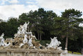 Neptune fountain in schonbrunn vienna palace garden austria Royalty Free Stock Photo