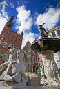 Neptune in old town of Gdansk Royalty Free Stock Images
