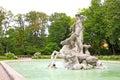 Neptune skulptur Royaltyfria Foton