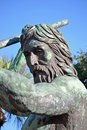 Neptune statue a bronze of located in shelter cove harbour hilton head south carolina Royalty Free Stock Photo