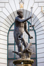 Neptune Statue in Gdansk Royalty Free Stock Photography