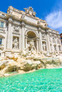 Neptune statue and the Trevi Fountain in Rome, Italy Royalty Free Stock Photo