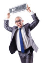 Nerd businessman Stock Photo