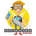 Nerd Geek Keyboard Warrior illustration Royalty Free Stock Photo