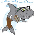 Nerd Shark Royalty Free Stock Photo