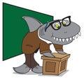 Nerd Shark Professor Royalty Free Stock Photo