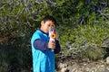Nerf Gun Aiming At The Camera