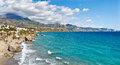 Nerja Beach and City Royalty Free Stock Image