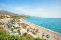Nerja beach. Malaga province, Costa del Sol, Andalusia, Spain Royalty Free Stock Photo