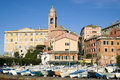 Nervi genoa italy is a former fishing village now a seaside resort of in liguria region of Stock Photos