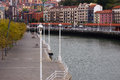 Nervion river at Bilbao. Stock Photography