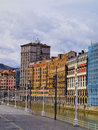 Nervion river in bilbao cityscape of and the biscay basque country spain Royalty Free Stock Photography