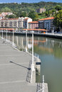 Nervion river at Bilbao, Spain Royalty Free Stock Image