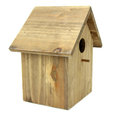Nest box bird hause on white background Stock Photos