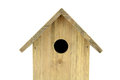 Nest box bird hause on white background Royalty Free Stock Photography